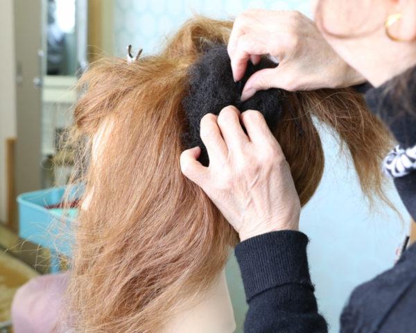 日本髪結い方手順13