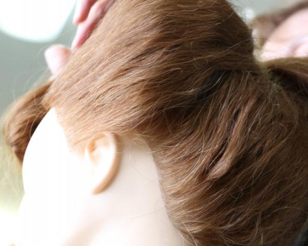 日本髪結い方手順15