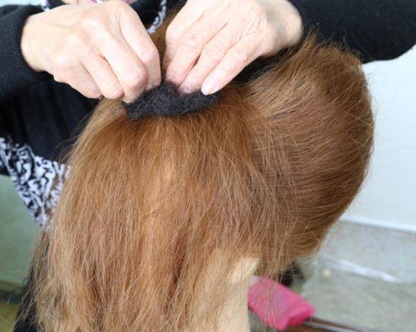 日本髪結い方手順16